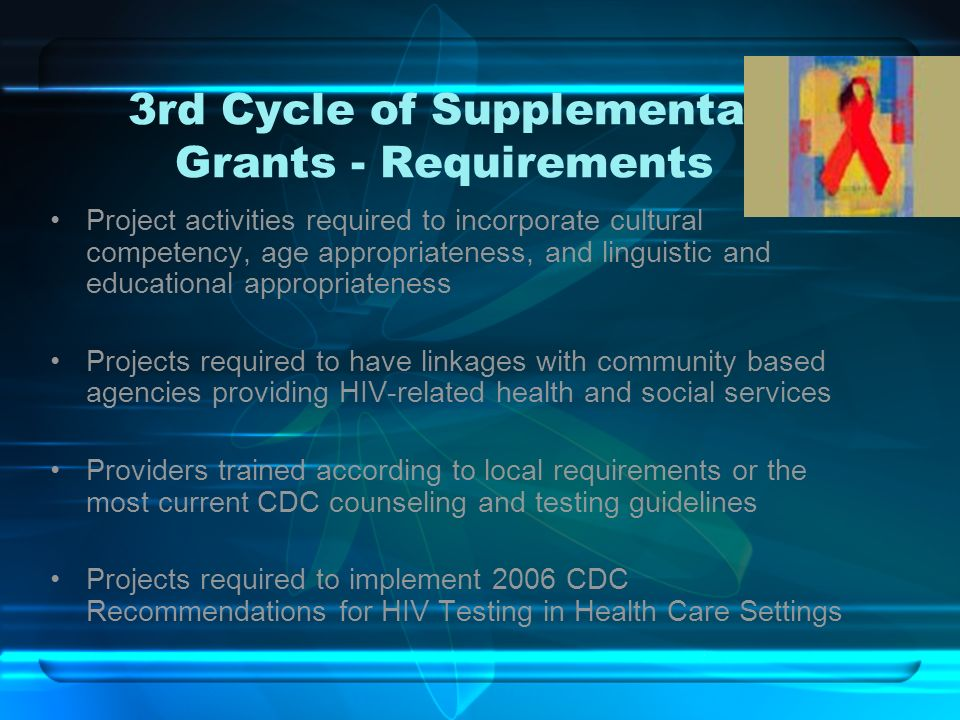 3rd Cycle of Supplemental Grants - Requirements