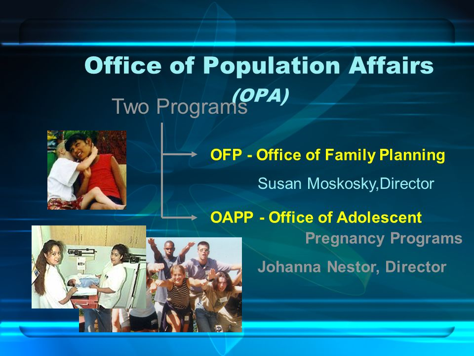 Office of Population Affairs (OPA)