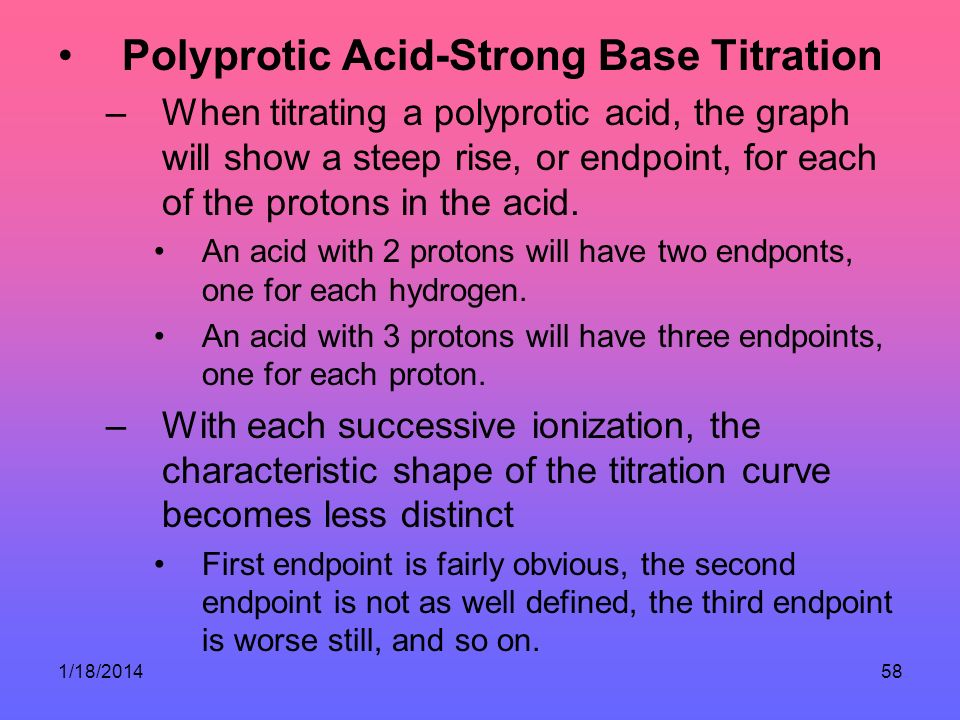 Polyprotic Acid-Strong Base Titration