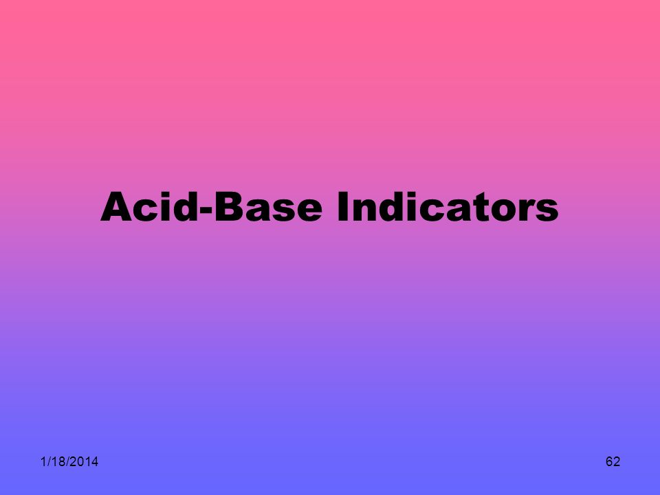 Acid-Base Indicators 3/25/2017