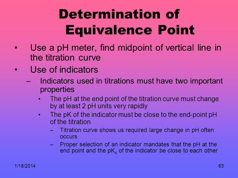 Determination of Equivalence Point