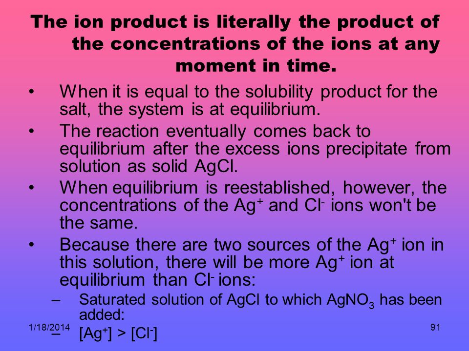 The ion product is literally the product of the concentrations of the ions at any moment in time.
