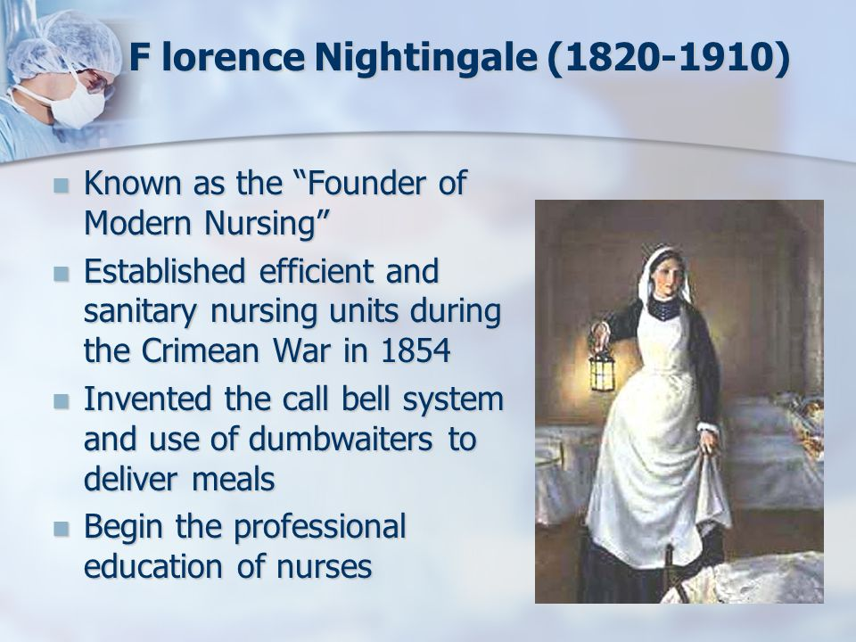 F lorence Nightingale (1820-1910)