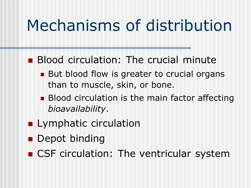 Mechanisms of distribution