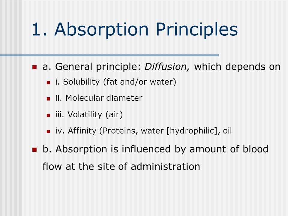 1. Absorption Principles