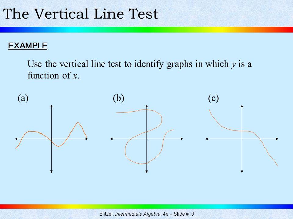 Blitzer, Intermediate Algebra, 4e – Slide #10