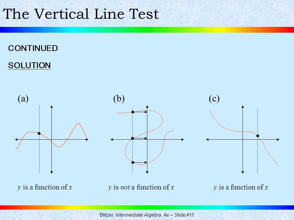 Blitzer, Intermediate Algebra, 4e – Slide #11