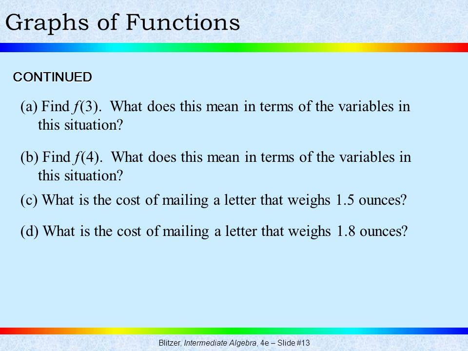Blitzer, Intermediate Algebra, 4e – Slide #13