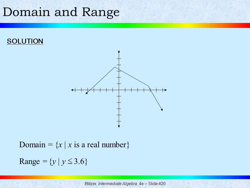 Blitzer, Intermediate Algebra, 4e – Slide #20