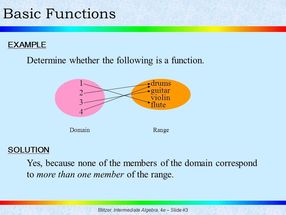 Blitzer, Intermediate Algebra, 4e – Slide #3
