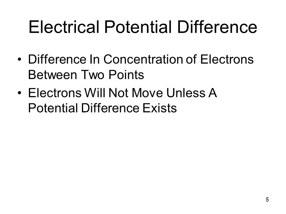 Electrical Potential Difference