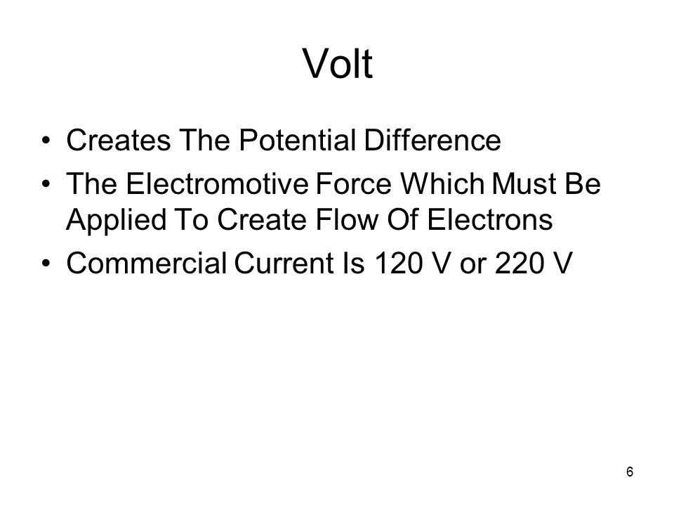 Volt Creates The Potential Difference