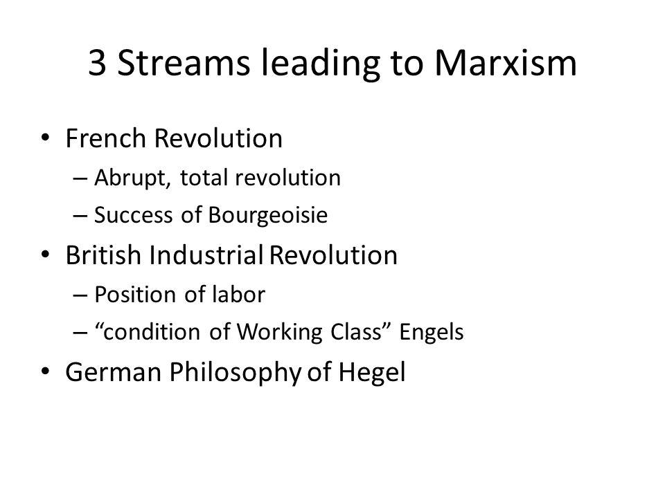 3 Streams leading to Marxism