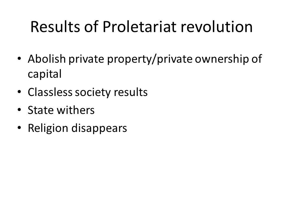Results of Proletariat revolution