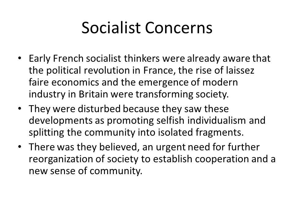 Socialist Concerns