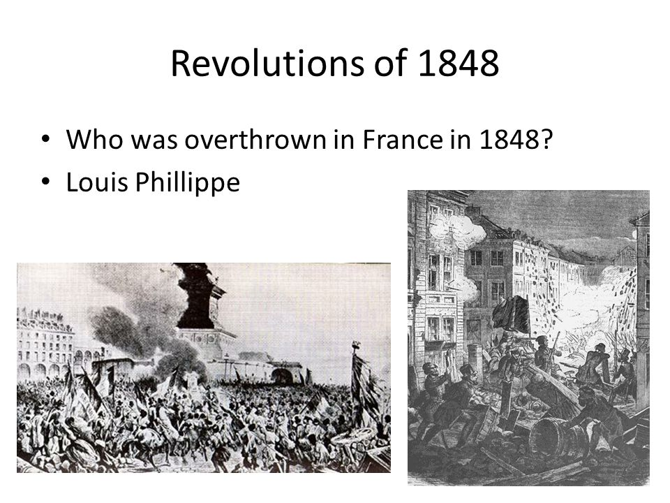 Revolutions of 1848 Who was overthrown in France in 1848