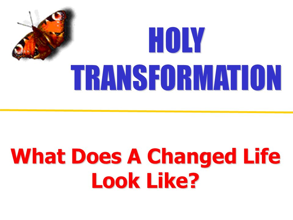 What Does A Changed Life Look Like