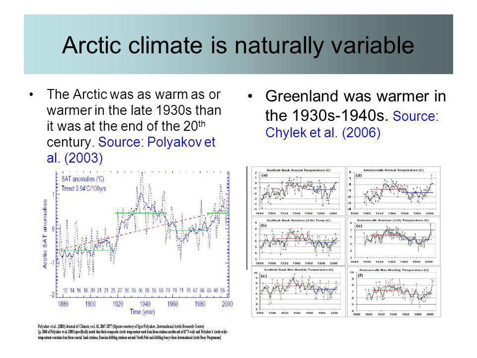 Arctic climate is naturally variable