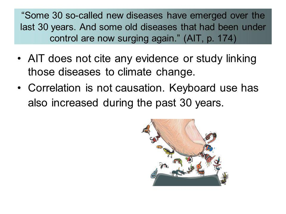 Some 30 so-called new diseases have emerged over the last 30 years