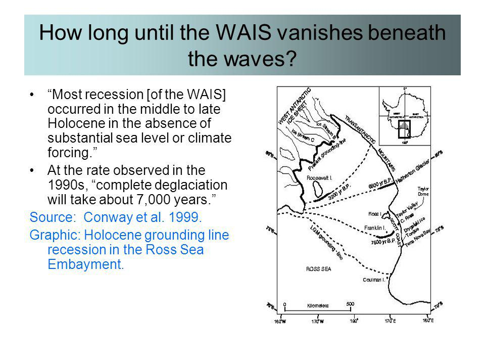 How long until the WAIS vanishes beneath the waves