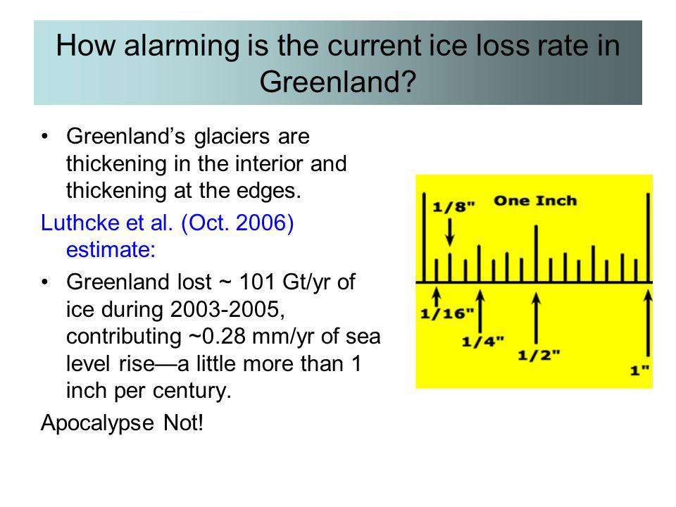 How alarming is the current ice loss rate in Greenland