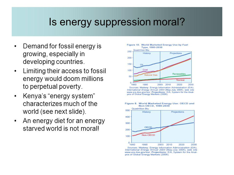 Is energy suppression moral