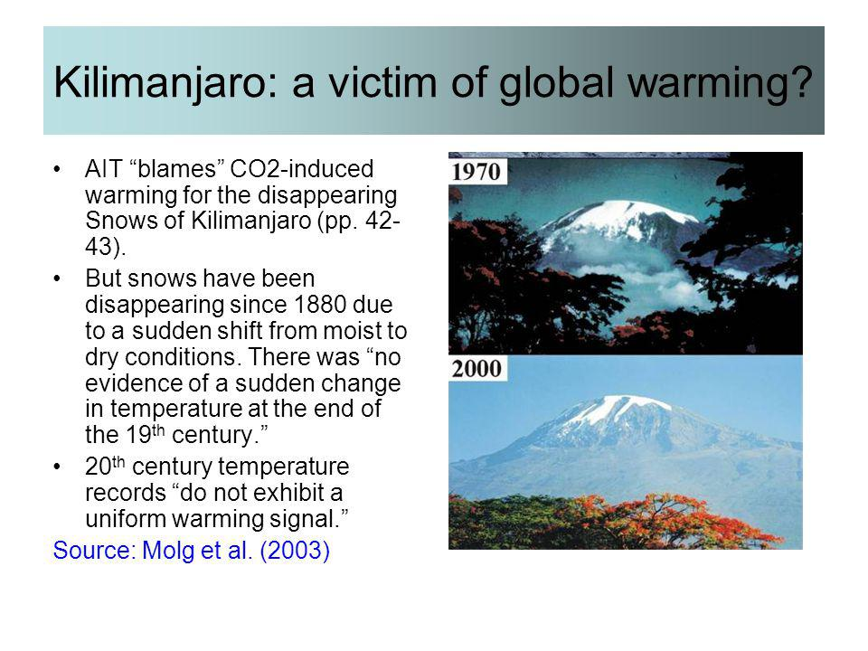 Kilimanjaro: a victim of global warming