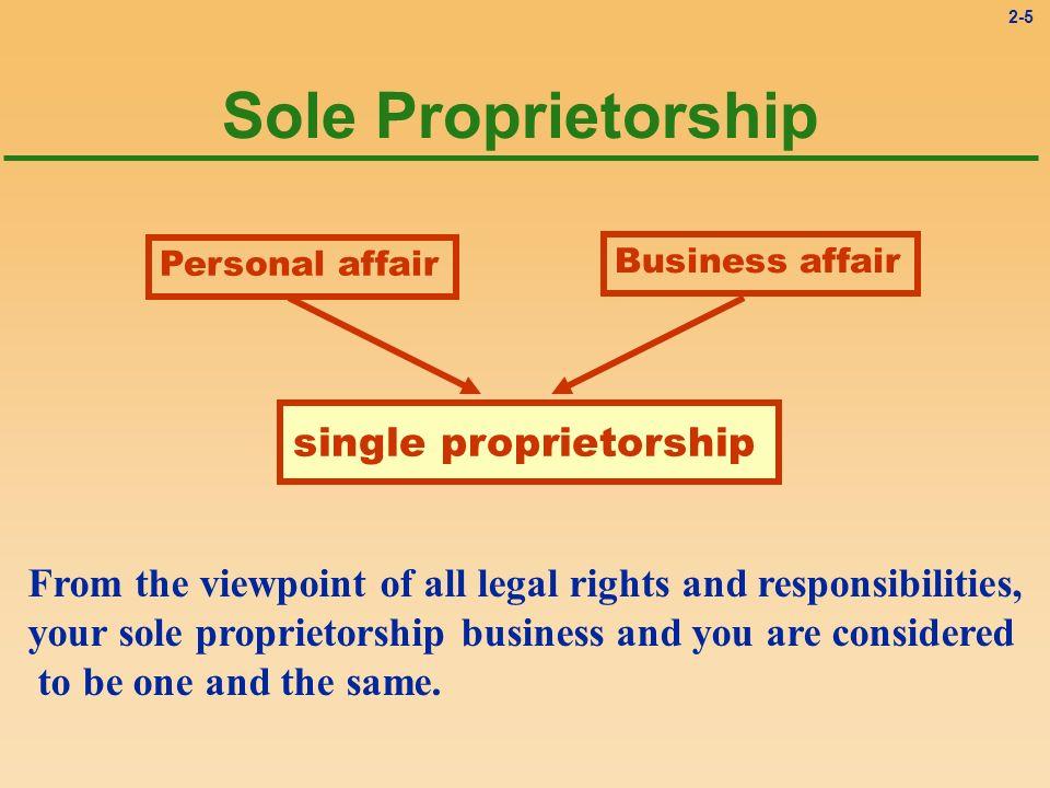 single proprietorship