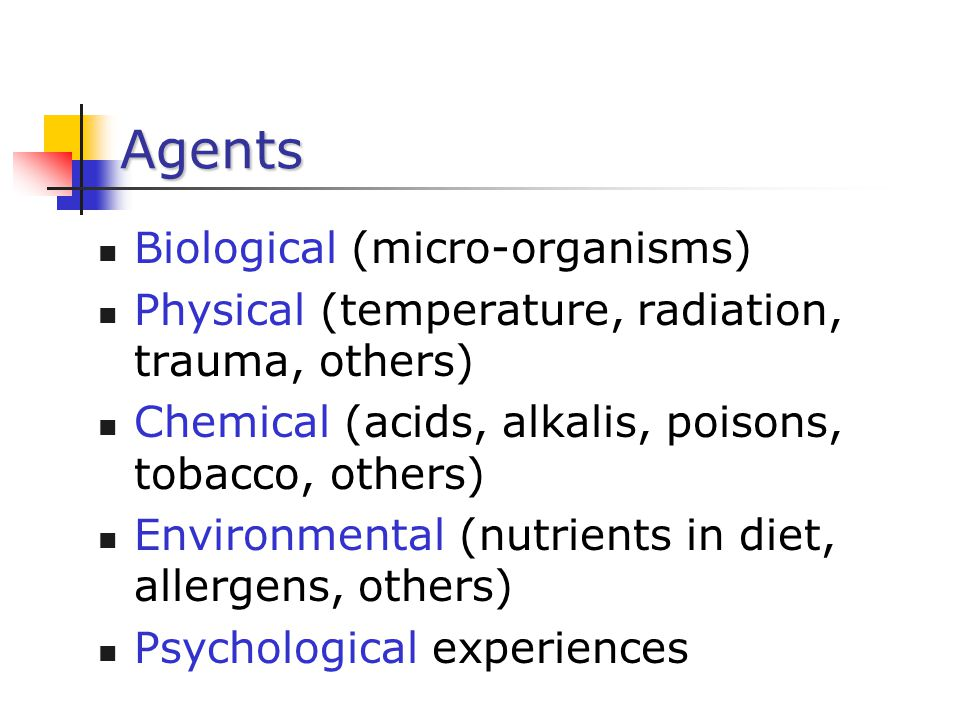 Agents Biological (micro-organisms)