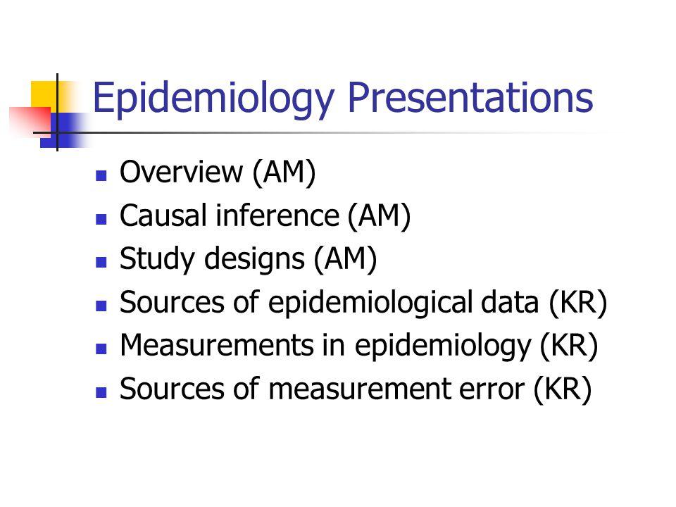 Epidemiology Presentations