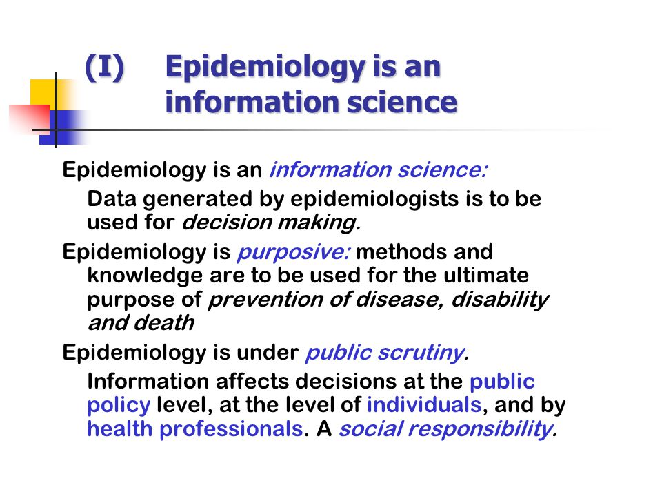 Epidemiology is an information science