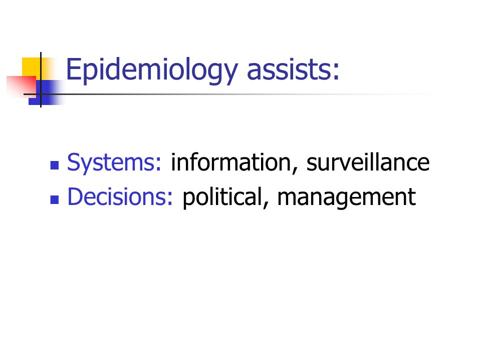 Epidemiology assists: