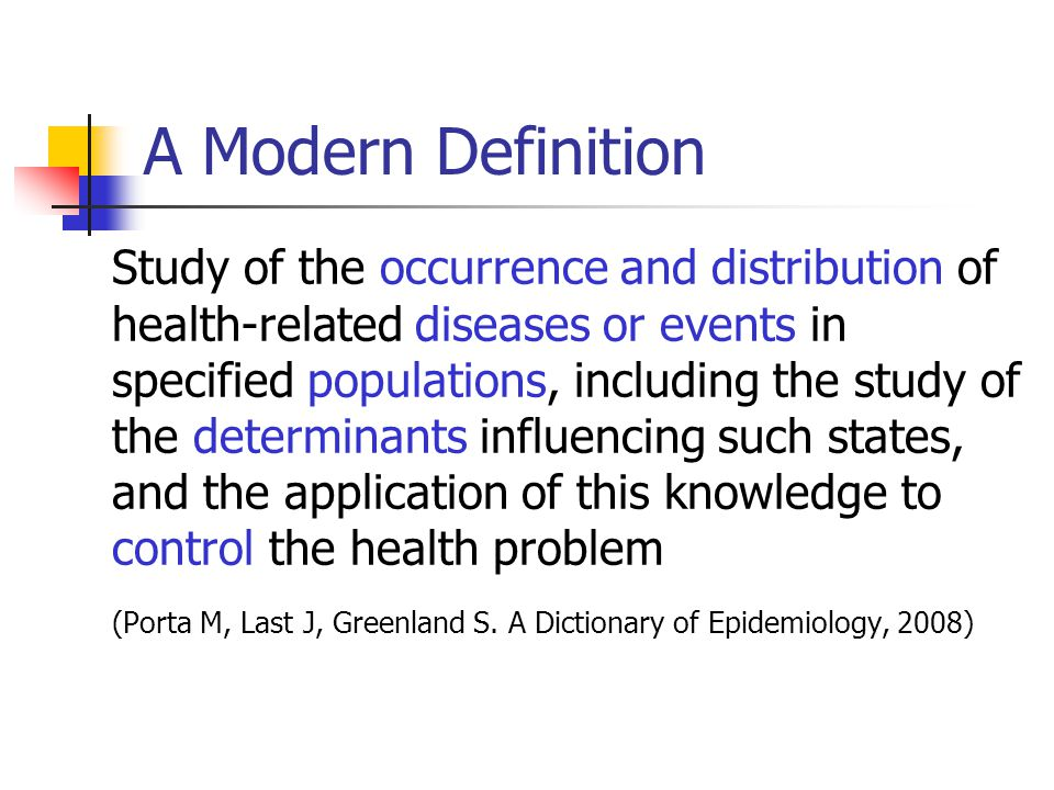 A Modern Definition
