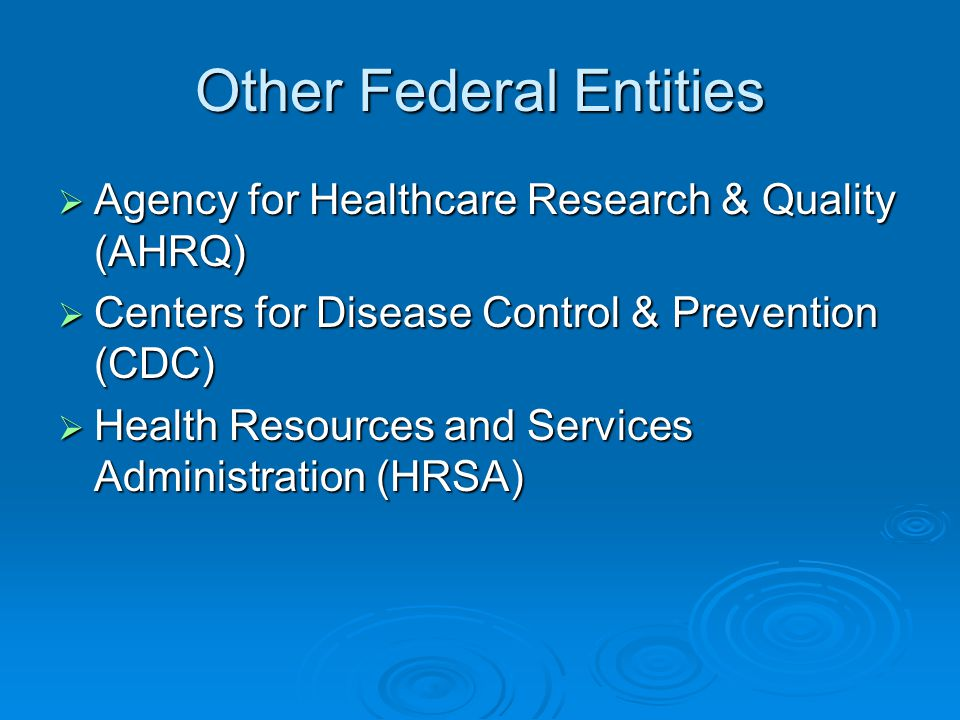 Other Federal Entities