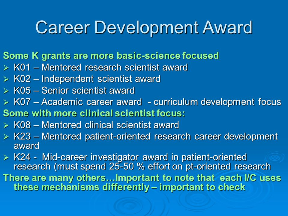 Career Development Award
