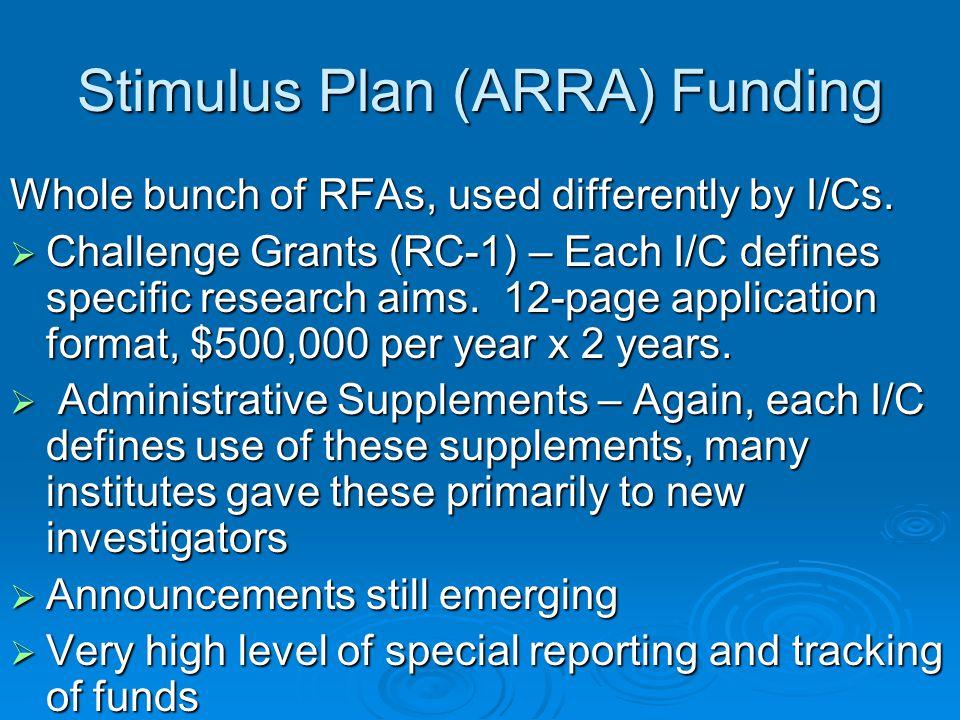 Stimulus Plan (ARRA) Funding