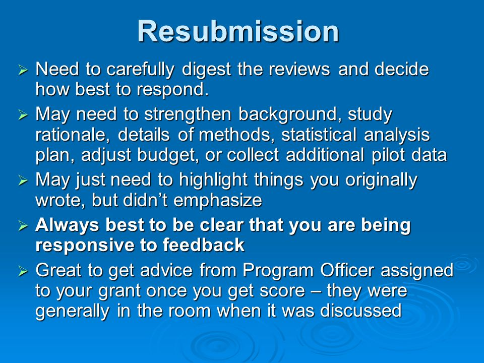 Resubmission Need to carefully digest the reviews and decide how best to respond.