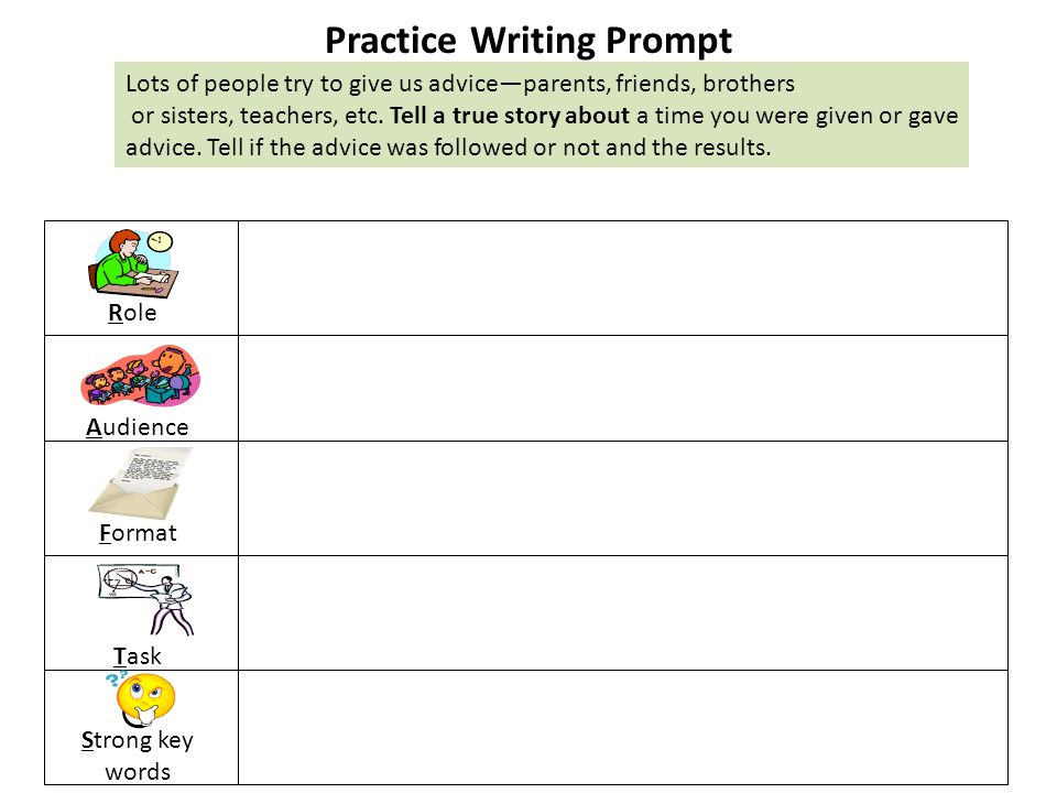 Practice Writing Prompt