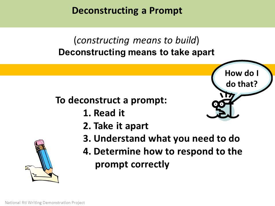 Deconstructing a Prompt