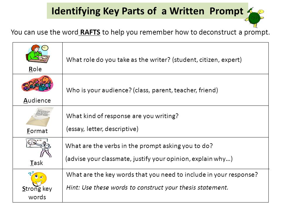 Identifying Key Parts of a Written Prompt