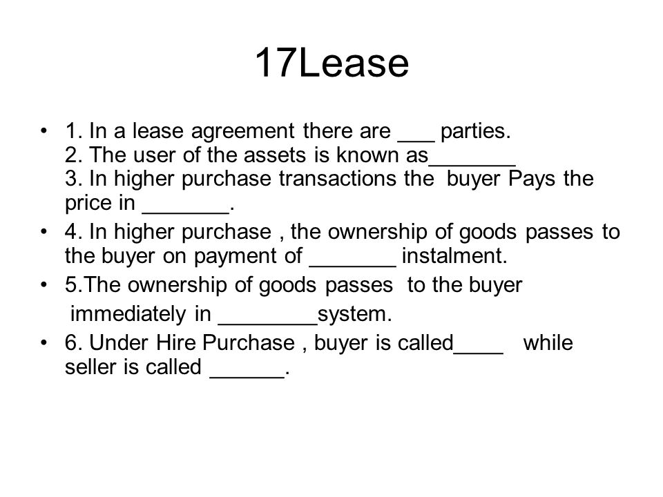 17Lease