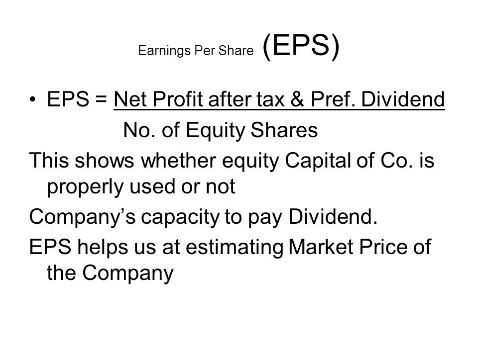 Earnings Per Share (EPS)