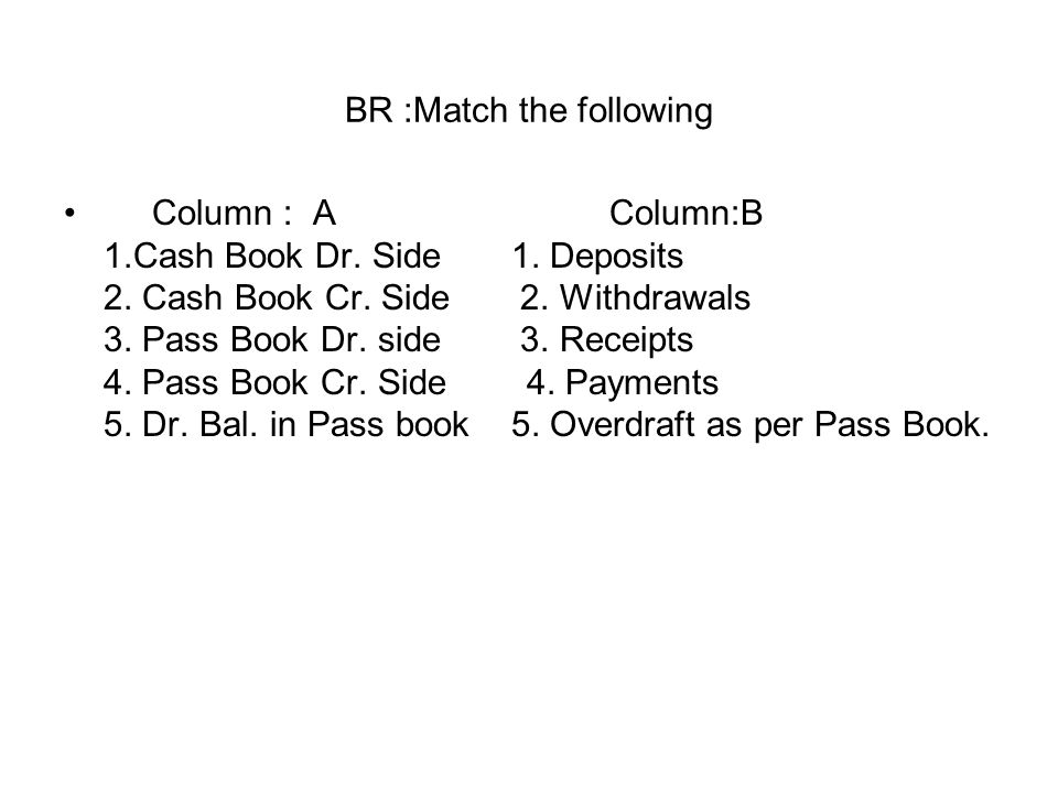 BR :Match the following