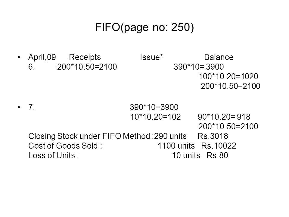 FIFO(page no: 250)