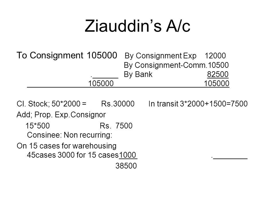 Ziauddin's A/c