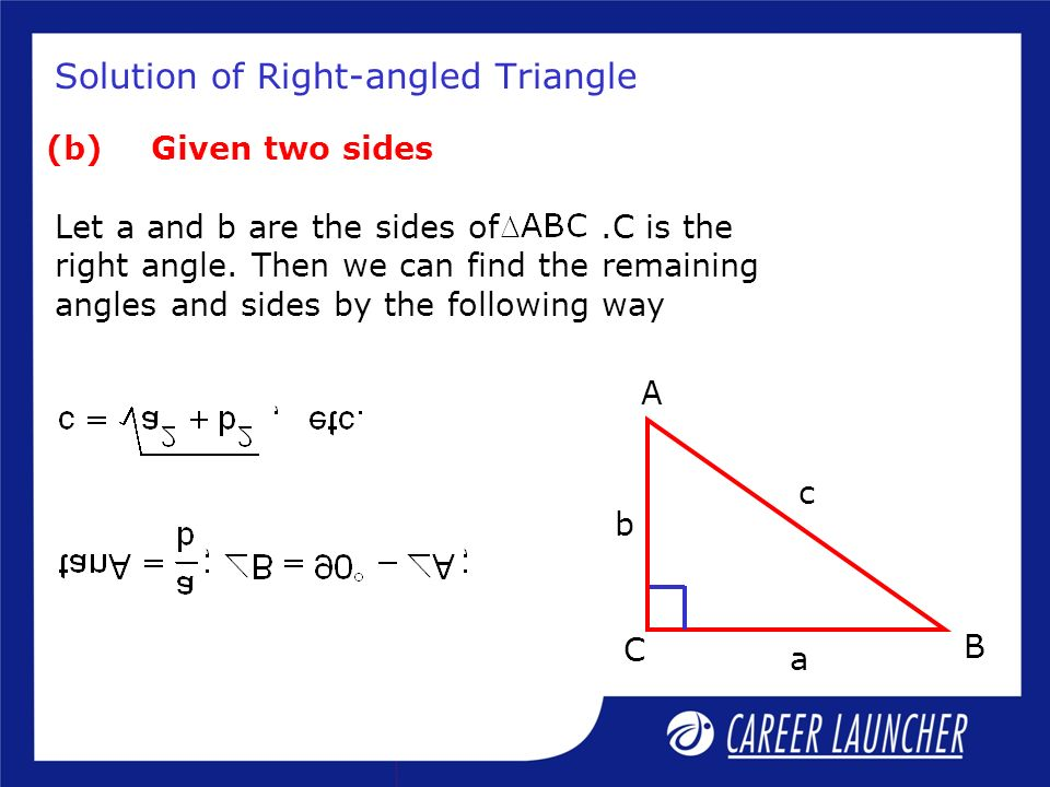Solution of Right-angled Triangle
