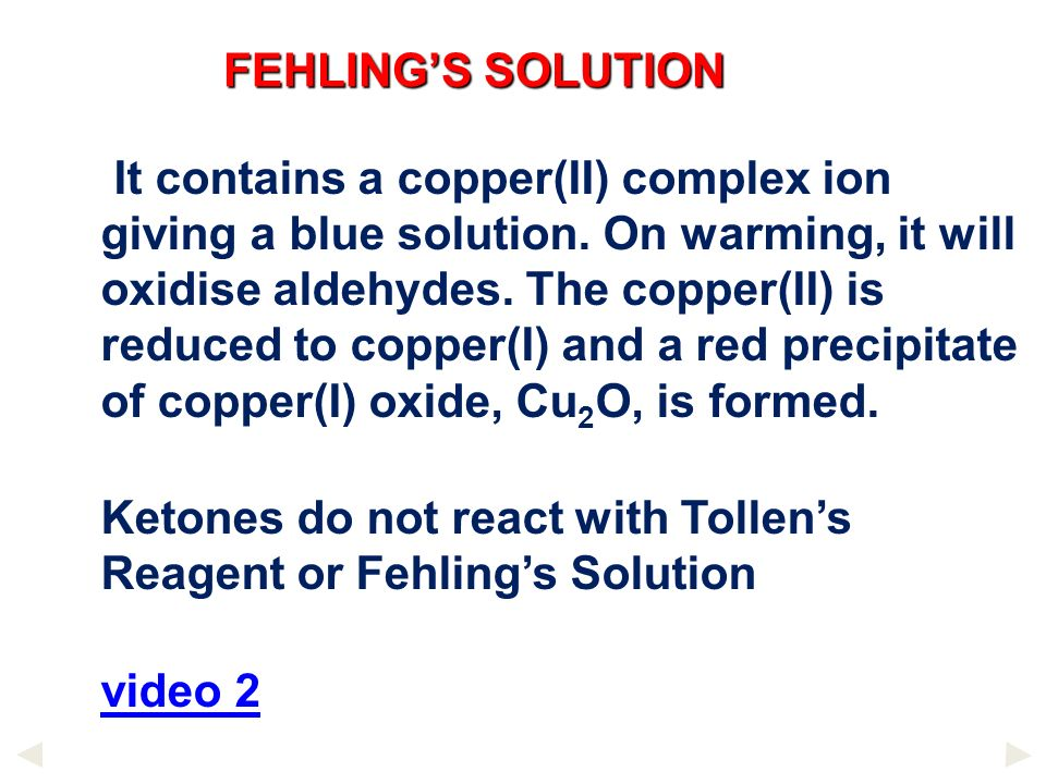 FEHLING'S SOLUTION