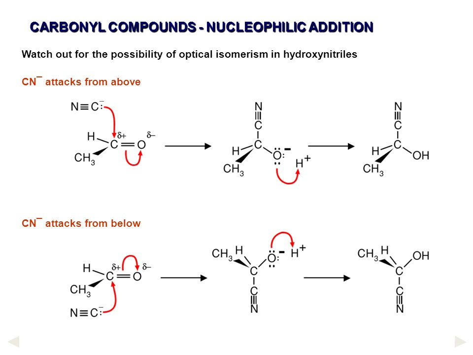 CARBONYL COMPOUNDS - NUCLEOPHILIC ADDITION