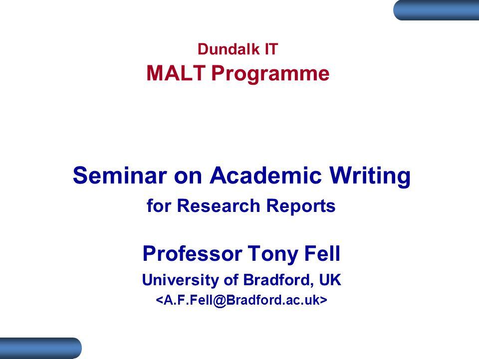 Dundalk IT MALT Programme