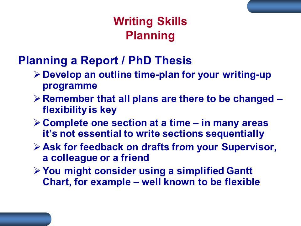Writing Skills Planning